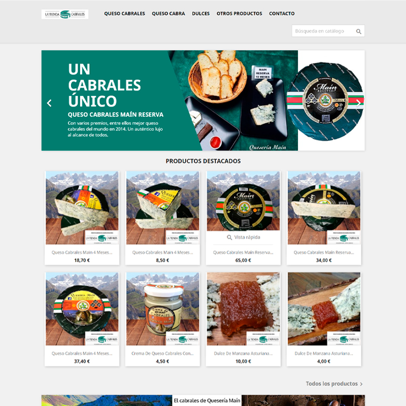 Ejemplo de tienda online