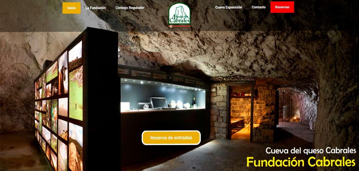 Web de la fundación cabrales